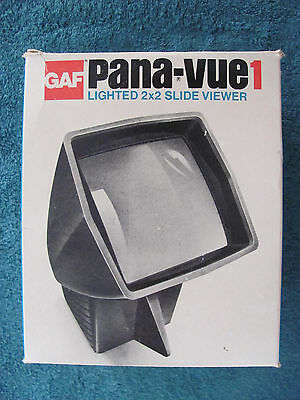 Vintage GAF Pana-vue1 Lighted 2x2 Slide Viewer