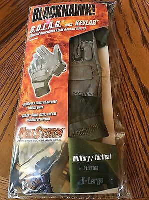 Blackhawk SOLAG Kevlar Assault Gloves 8114XLOD X-Large OD Green Authentic. NEW!!