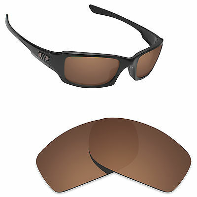 Hawkry Polarized Replacement Lenses for-Oakley Fives Squared Sunglass Brown