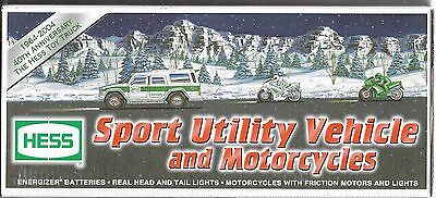 Hess - Battery Operated SUV & 2 Motorcycles  from 2004, New in Box,
