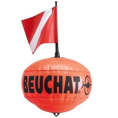 Spearfishing Inflatable Float Beuchat Round with Line and Flag