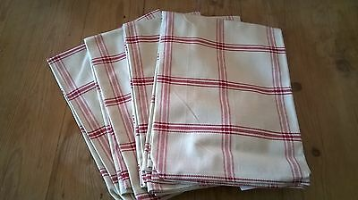 Quality Joblot of 20 Cotton Teatowels Classic Check, Cafe,  Crafting , Retail