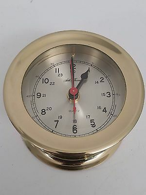 Vintage Seth Thomas Brass Ship Clock Quartz movement Nautical Maritime