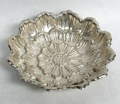 Sterling Sterling Chrysanthemum Flower Candy Dish