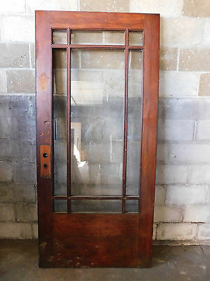 Antique Craftsman Style Entry Door - 1910 None Pane Fir Architectural Salvage