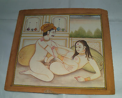 Antique Indian Erotic Water Colour Painting
