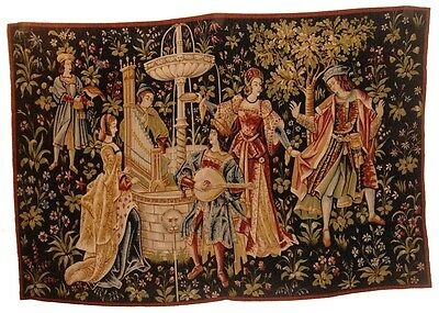 A Great Medieval Style Tapestry - Concert Near Fountain