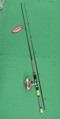 Okuma Calynn 7' Medium Light Pink Spinning Rod & Reel Combo 2 Pc CY-S-702ML-20