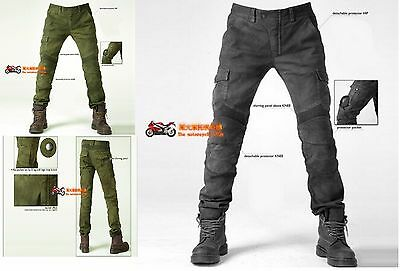 Mens Motorbike Motorcycle Biker Trousers Pants Jeans With Protective Lining New