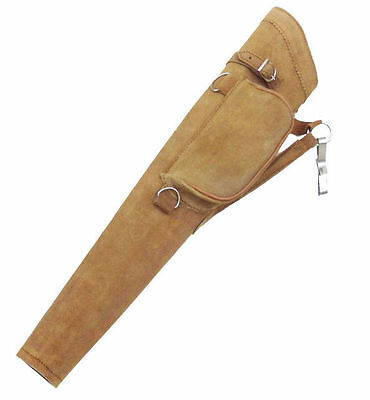 NEW TRADITIONAL FINE SUEDE TANNED QUIVER ARCHERY PRODUCTS AQ-117 ( Left Hand).