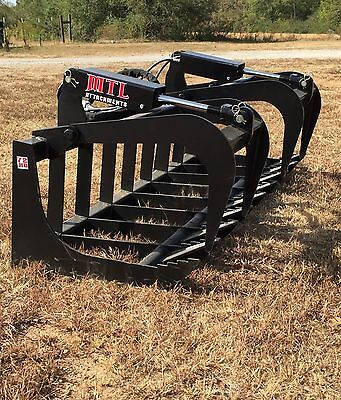 "New HD 66"" Skid Steer Root Grapple Bucket Twin Cylinder - Bobcat - Universal fit"