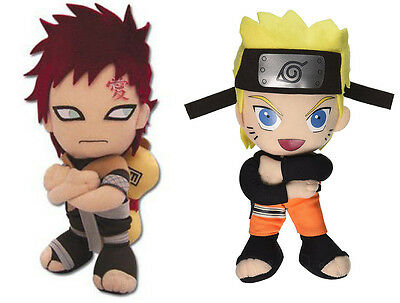 Set of 2 Great Eastern Gaara (7036)/Naruto (8900) Shippuden Stuffed Plush Dolls