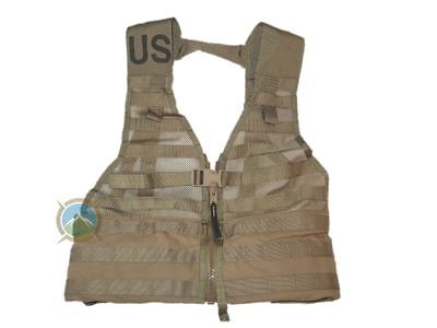 FLC Fighting Load Carrier Tactical Vest - Excellent - Coyote - US Military MOLLE