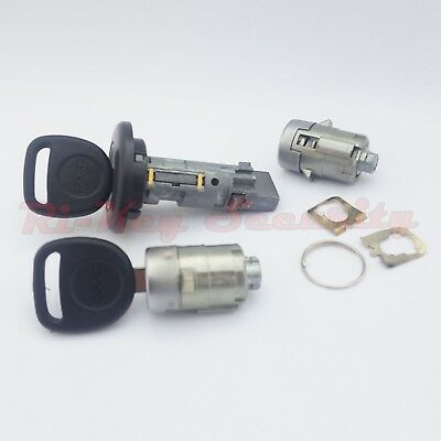 Ignition Switch Cylinder and 2 Door Lock Cylinders Set For GMC Chevy Trucks SUV