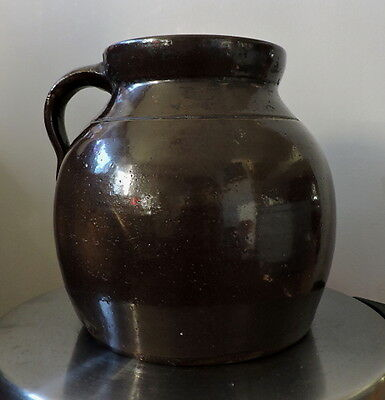 Vintage Ceramic Jug/bean - Glazed- With Handle