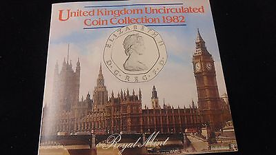 1982 United Kingdom  UNC 7 Coin Collection Set - Royal Mint