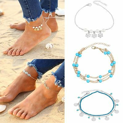 Snow Beach Foot Chain Ankle Bracelet Anklets Turquoise