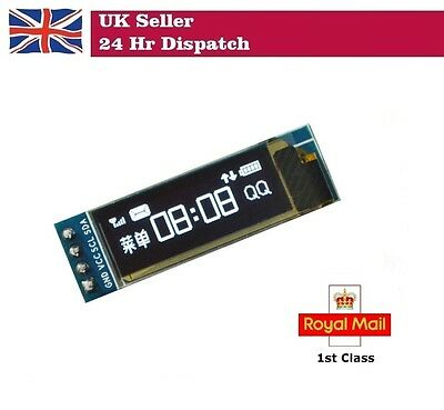 "0.91"" 128X32 BLUE OLED LED Display Module IIC I2C Raspberry Pi Arduino"
