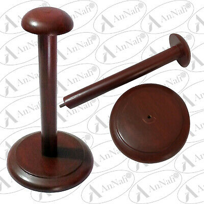 Wooden Helmet Stand Display Stand for Medieval Helmets  Foldable Red Stand Armor