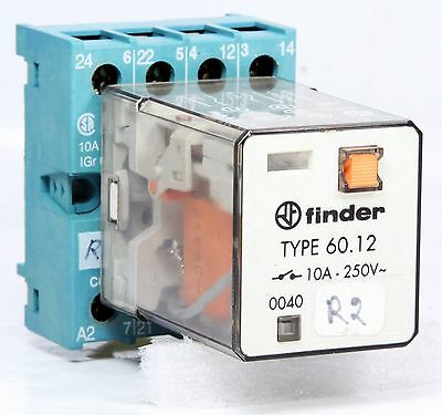 FINDER   Relay   TYPE 60.12 + TYPE 90.26 Socket  24V AC