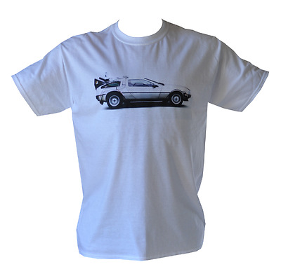 T Shirt Deloren Car Back To The Future Mens White All Sizes S To 3Xl Free Post