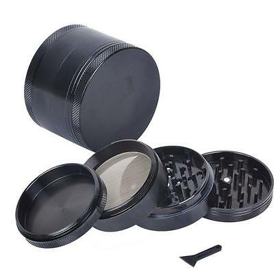 4-layer Aluminum Smoke Grinders Hand Crank Herbal Herb Tobacco Crusher Grinder