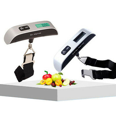 50kg/50g Electronic Hand Carry LCD Digital Luggage Scale Travel Hanging Weight