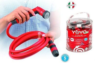 Yoyo Tuyau D'arrosage Auextensible Extensible Jardin Voiture Made In Italy