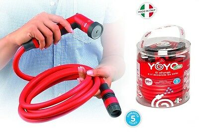 Yoyo Extendable Water Hose For Irrigation Car Garden Made In Italy