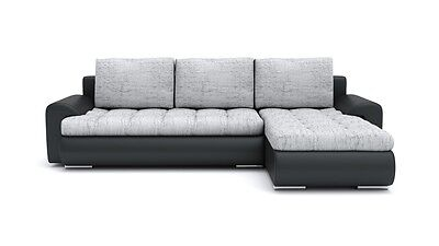 ecksofa mit schlaffunktion dreisitzer eckcouch mit bettkasten schwarz lila eur 249 00. Black Bedroom Furniture Sets. Home Design Ideas