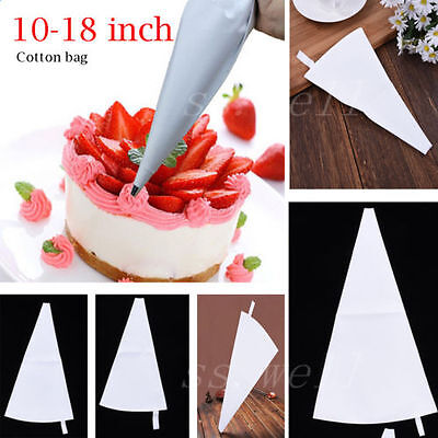 "10/12/14/16/18"" High quality DIY Cotton Cloth Pastry Bag Piping Bag Cake Decor"