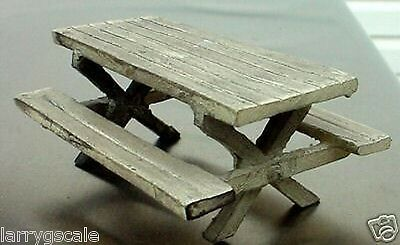 Picnic Table Miniature 1/24 Scale G Scale Diorama Accessory Item