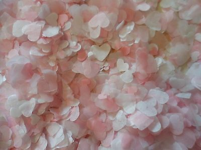 5,500+ Pink & White Tissue Hearts/Wedding Confetti/PartyBio/4/5 Cones,Decoration