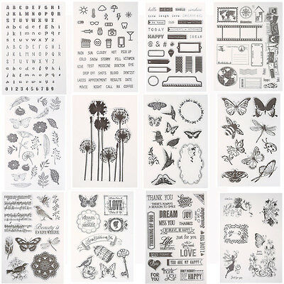 Silicone  Scrapbooking Diary Card Decor Rubber Clear Stamp Seal Cling DIY Craft
