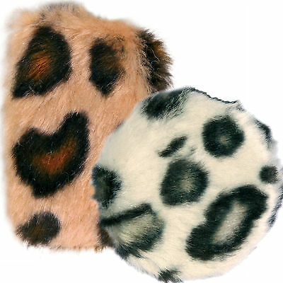 Trixie Rustling Foil & Catnip Filled Soft Animal Print Play Toy 4514