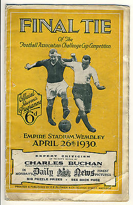 1930 FA Cup Final Arsenal v Huddersfield Town 26/4/30 Arsenal's 1st Major Trophy