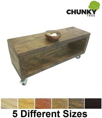 Coffee Table / Tv Stand / Bedside Table 12X2 Side Cabinet Rustic Solid Pine Cube