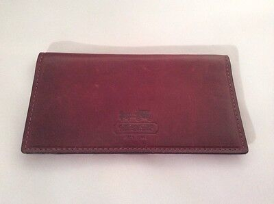 Coach  Brown Soft Leather Checkbook Holder Pre-owned