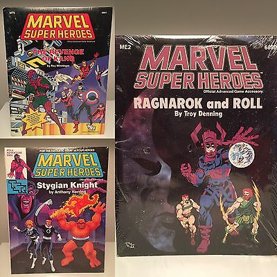 Lot of 3 MARVEL SUPER HEROES Game Adventure Modules (SEALED) 1989 TSR