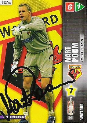 A Panini 2008 card. Personally signed by Mart Poom of Watford.