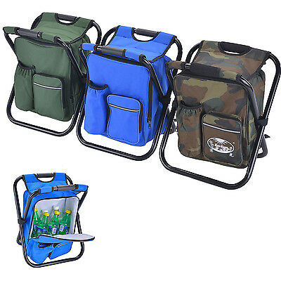 Portable Folding Fishing Camping Chair With Cooling Bag Picnic Ice Pack Seat
