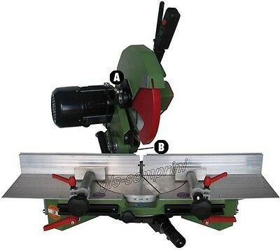 Single Blade Mitre Manual Saw Frame Wood Cutting 300 Cornici 220V Made In Italy