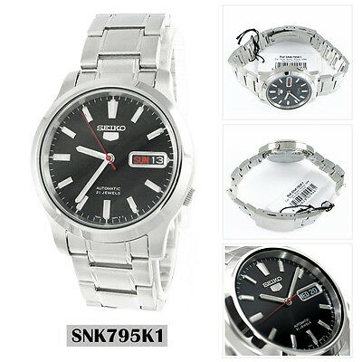 Seiko Analog Casual Watch 5 Automatic Silver Mens SNK795K1