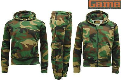 GAME Kids Camo Camouflage Hoody Tops & Joggers