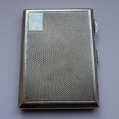 Antique Sterling Silver Cigarette Case - Birmingham 1928 - 82 grams