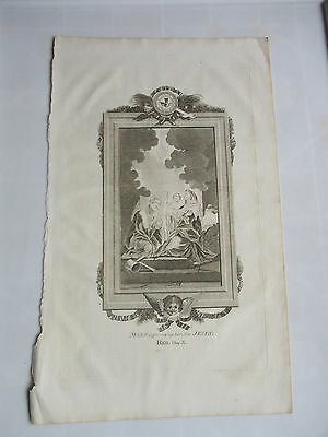 c 1800 MARY OFFERING UP HER SON JESUS FOLIO COPPER PLATE ENGRAVING