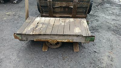 Vintage Fairbanks Warehouse Industrial Factory Cart
