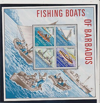 Barbados Stamps - MS484 - Fishing Boats of Barbados - 1974 - (443)