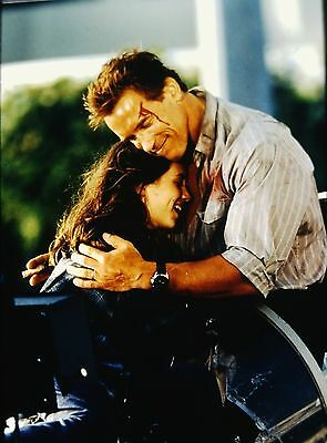"ELIZA DUSHKU & ARNOLD SCHWARZENEGGER in ''True Lies"" - Original 35mm Slide"