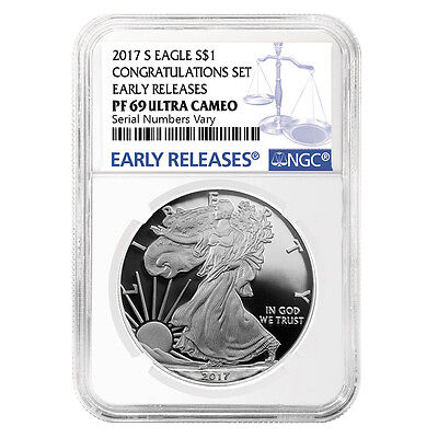 2017-S 1 oz Proof Silver American Eagle NGC PF 69 UCAM Early Releases